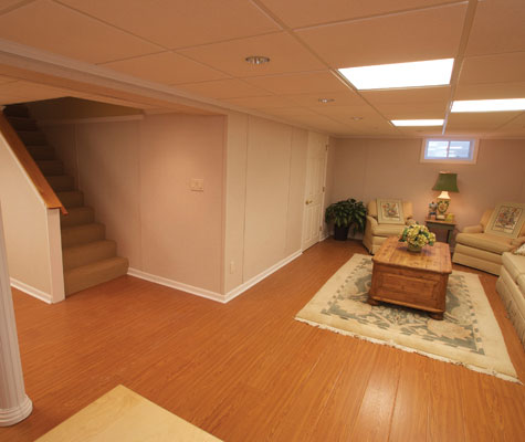 Beautiful Wood Laminate Basement Flooring In Jackson Nashville