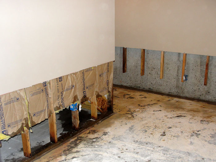 Basement Drywall Repair Panels In Clarksville Jackson Nashville - Flooring options for basements that get water