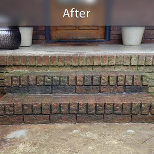 Sinking stairs repaired with PolyLevel® Clarksville