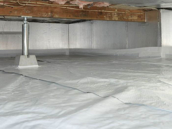 Crawl space insulation with silverglo in clarksville for Crawl space insulation cost estimator