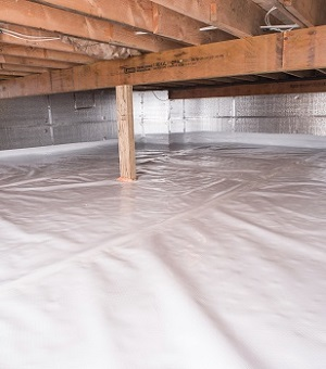Installed crawl space insulation in Shelbyville