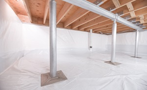 Crawl space structural support jacks installed in Smyrna