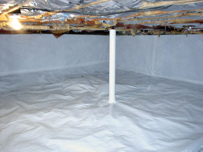 The CleanSpace Crawl Space Vapor Barrier by Clarksville, Nashville