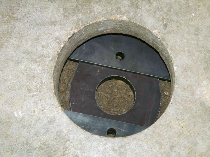 sinking settling concrete floor slab
