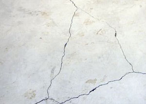 cracks in a slab floor consistent with slab heave in Antioch.