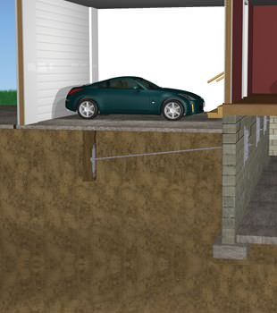 Graphic depiction of a street creep repair in a Brentwood home