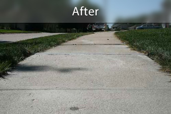 After photo of PolyLevel® concrete sidewalk repair in Clarksville