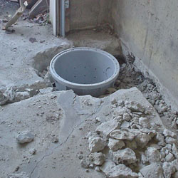 Placing a sump pit in a Hartford home