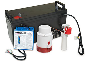 a battery backup sump pump system in Franklin