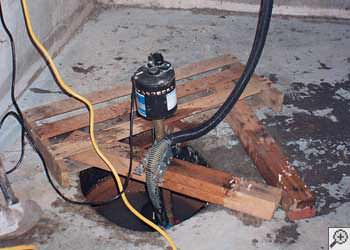 A Shelbyville sump pump system that failed and lead to a basement flood.