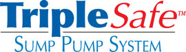 Sump pump system logo for our TripleSafe™, available in areas like Smyrna