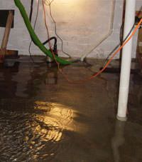Several feet of floodwaters in a Savannah basement
