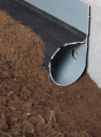 crawl space drain system installed in Hopkinsville