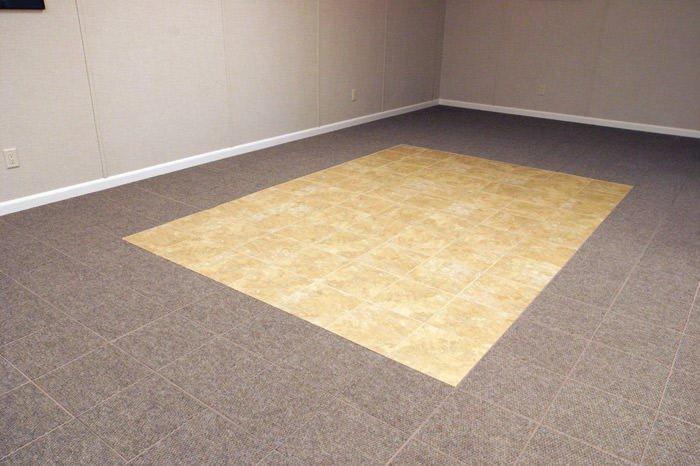 Basement floor tiles in nashville clarksville jackson for Clarksville flooring