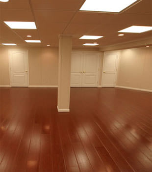 Rosewood faux wood basement flooring for finished basements in Clarksville
