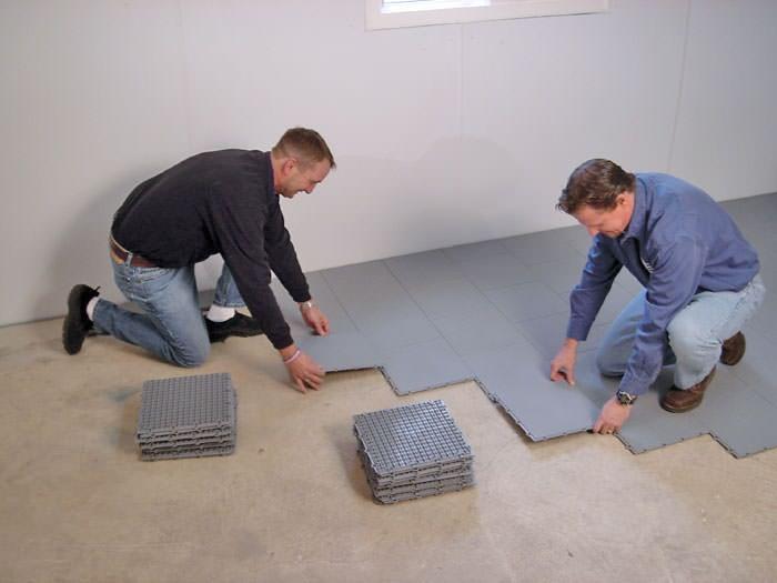 basement sub floor matting options in nashville, clarksville