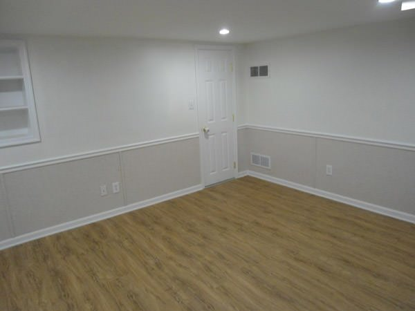 a bright white washable basement wall covering that does not adhere to the walls and resists mold & rot for Columbia homeowners